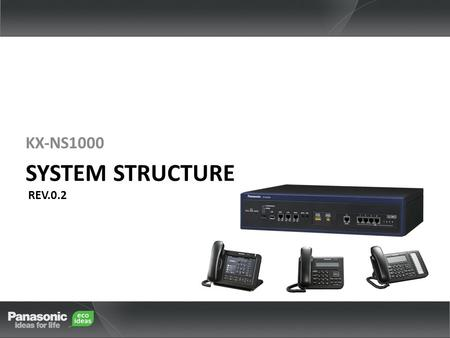KX-NS1000 SYSTEM STRUCTURE REV.0.2 KX-NS1000. Introduction This document explains System Outline and Specification of the KX-NS1000, and is composed of.