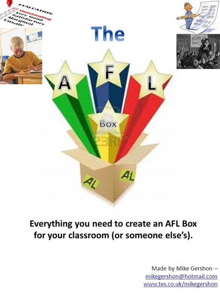 Made by Mike Gershon –  Everything you need to create an AFL Box for your classroom (or someone elses).