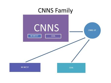 CNNS Family CNNS CIFA M-WCST CNNS-SP CIFA. Sample Johns Hopkins Aging, Brain Imaging, and Cognition (ABC) study Phase 1: 215 adults Baltimore MD, random.