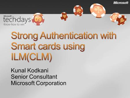 Strong Authentication with Smart cards using ILM(CLM)
