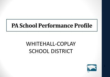 PA School Performance Profile 1 WHITEHALL-COPLAY SCHOOL DISTRICT.