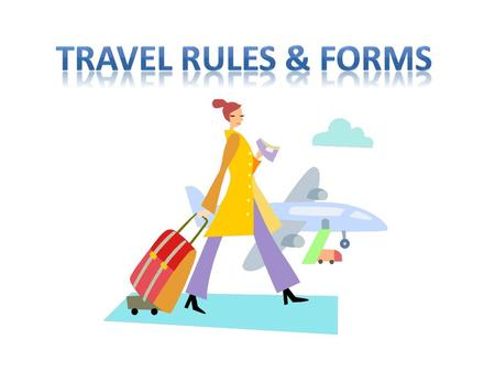 At least one week prior to your travel you must fill out a Travel Request Form. Your Travel Request Form must be accompanied by a Travel Expense Comparison.