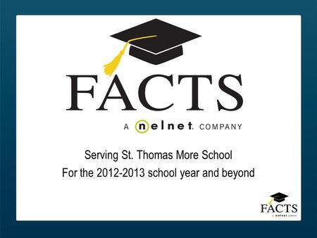 Serving St. Thomas More School For the 2012-2013 school year and beyond.