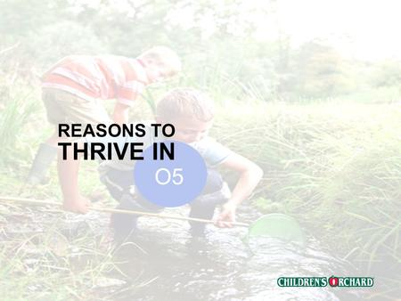 Confidential REASONS TO THRIVE IN O5 Confidential Mission Statements Childrens Orchard Mission To redefine and lead the childrens resale category Corporate.