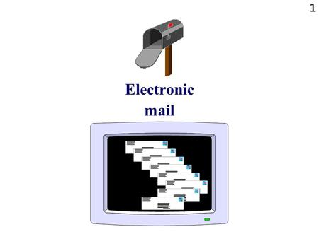 1 Electronic mail. 2 E-mail: summary The following gives an overview of electronic mail: What it is Using e-mail through the WWW Using e-mail with a dedicated.