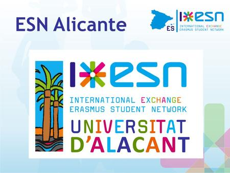 ESN Alicante. What is ESN? Erasmus Student Network (ESN) is one of the biggest interdisciplinary NON PROFIT student associations in Europe.