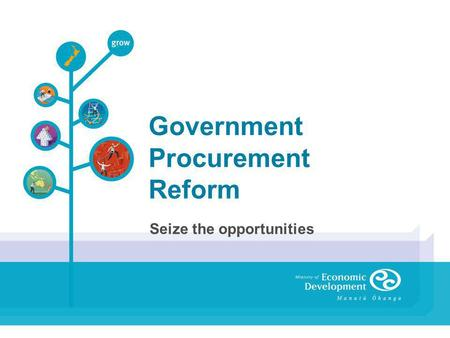 Government Procurement Reform Seize the opportunities.