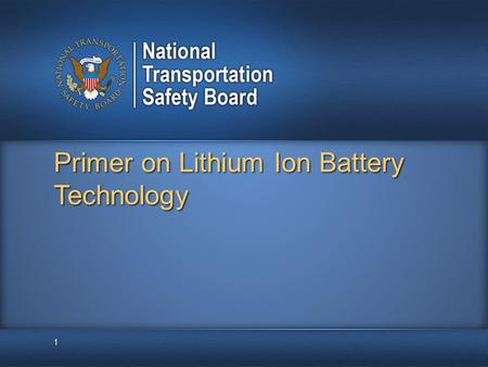 Primer on Lithium Ion Battery Technology 1. What is a Battery: A battery is an energy storage device that relies on electrochemical reactions to deliver.