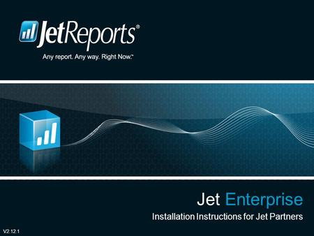 Jet Enterprise Installation Instructions for Jet Partners V2.12.1.