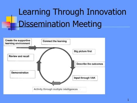 1 Learning Through Innovation Dissemination Meeting.