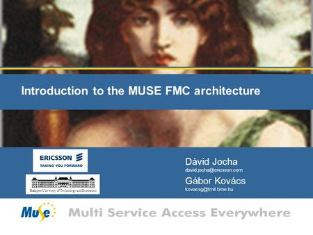 Introduction to the MUSE FMC architecture Dávid Jocha Gábor Kovács