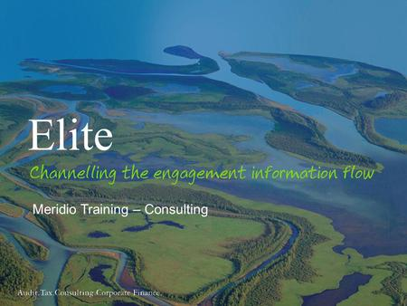 1 Meridio Training – Consulting Elite. 2 Course objectives By the end of this training session you will: Understand why the Elite programme is being introduced.