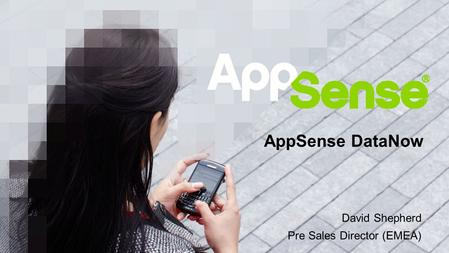 David Shepherd Pre Sales Director (EMEA)