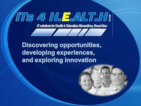 ITs 4 H.E.ALT.H s.a.l ITs 4 H.E.ALT.H s.a.l., Information Technology (IT) solutions for Health & Education Alternatives: a leading global technology service;