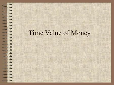 Time Value of Money The Starting Point NPV analysis allows us to compare monetary amounts that differ in timing. We can also incorporate risk into the.