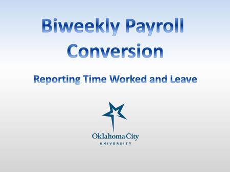 Currently, non-exempt employees record time worked and leave taken on a semi-monthly leave report. As of April 16, 2014, non-exempt employees will record.