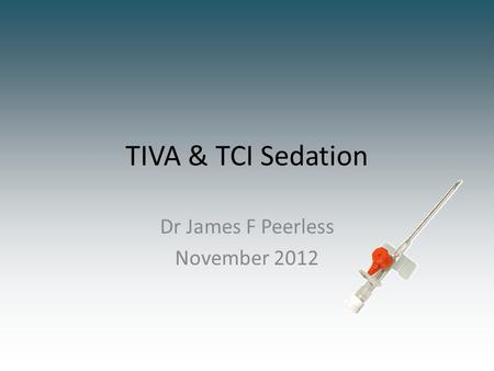 Dr James F Peerless November 2012