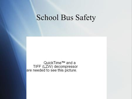 School Bus Safety.