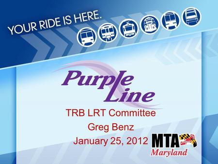 TRB LRT Committee Greg Benz January 25, 2012. Project History 1986 – Montgomery County completes feasibility study of using Georgetown Branch as transitway,