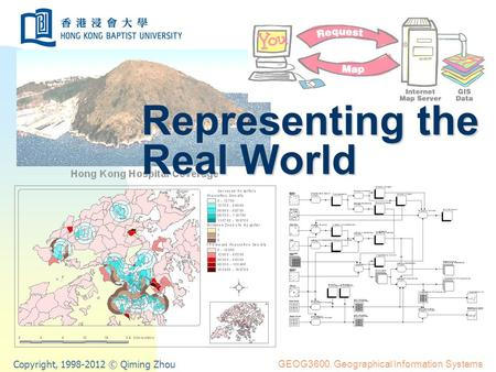 Copyright, 1998-2012 © Qiming Zhou GEOG3600. Geographical Information Systems Representing the Real World.