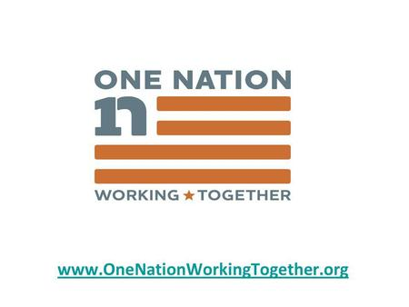 Www.OneNationWorkingTogether.org. In 2008, we had unprecedented voter participation Voter Participation.