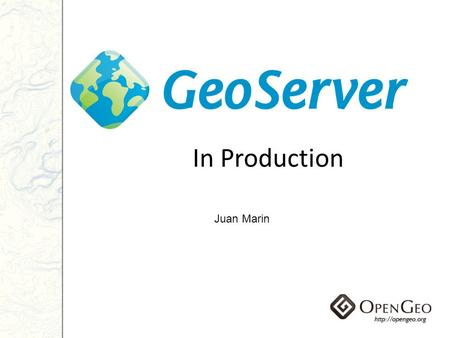 In Production Juan Marin. Agenda Introduction Reliability Availability Performance Data optimizations Runtime optimizations Measuring your environment.