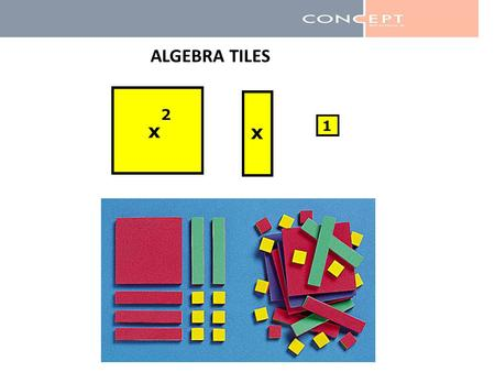 ALGEBRA TILES. Zero Pairs When put together, zero pairs cancel each other out to model zero.
