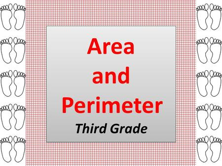 Area and Perimeter Third Grade