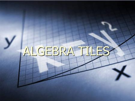 ALGEBRA TILES. INTRODUCTION Algebra tiles can be used to model algebraic expressions and operations with algebraic expressions. Algebra tiles can be used.