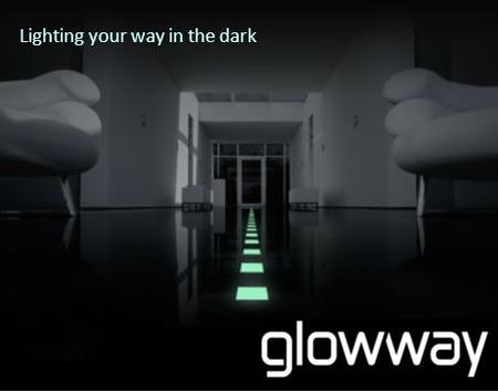 Lighting your way in the dark. PASSIVE GUIDING SYSTEM Glowway's patented self-illuminating tiles glow in the dark guiding people to exits in cases of.