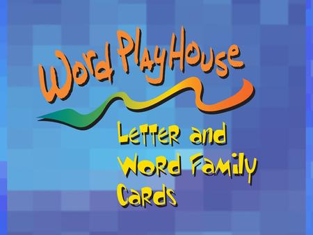 Word PlayHouse is a program that provides students with visual impairments the opportunity to participate in classroom activities that focus on phonics,