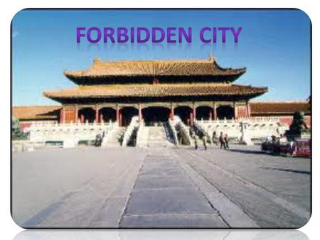 The Forbidden City was the Chinese imperial palace from the Ming Dynasty to the end of the Qing Dynasty. It is located in the middle of Beijing, China,
