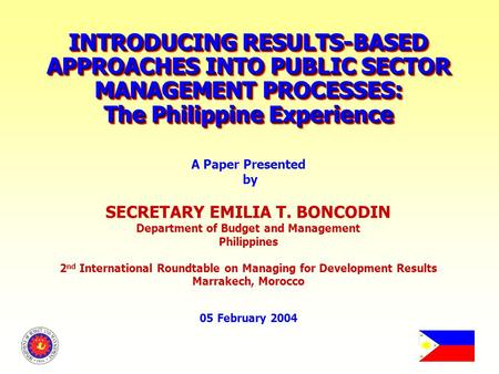 new public management in the philippines New public administration is an anti-positivist, anti-technical, and anti-hierarchical reaction against traditional public administrationa practiced theory in response to the ever changing needs of the public and how institutions and.