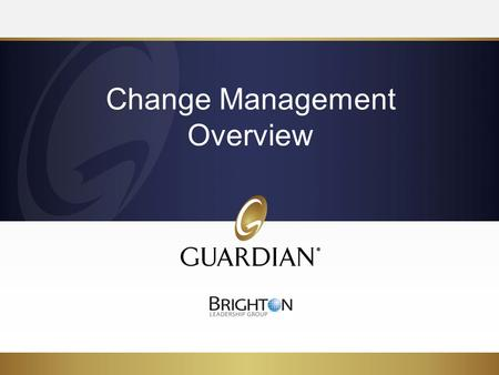 Change Management Overview. 2 Objectives Overview of the change management approach Clarity on how the tools support the change approach Apply the change.