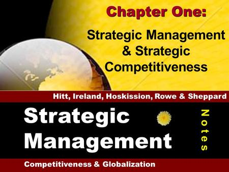 Strategic Management Chapter One: