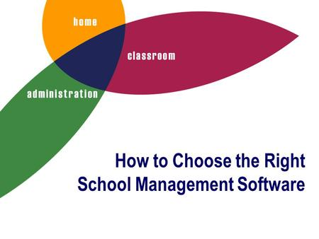 How to Choose the Right School Management Software.