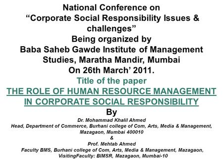 National Conference on