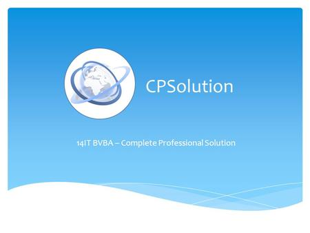 CPSolution 14IT BVBA – Complete Professional Solution.