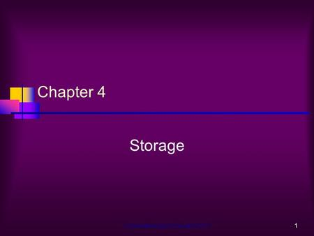 Understanding Computers Ch.41 Chapter 4 Storage. Understanding Computers Ch.42 Learning Objectives Explain the difference between storage systems and.