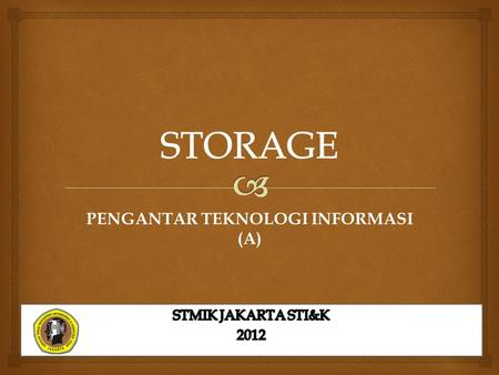 PENGANTAR TEKNOLOGI INFORMASI (A). hard disk Hard Disks What is a disk cache? Portion of memory that processor uses to store frequently accessed items.
