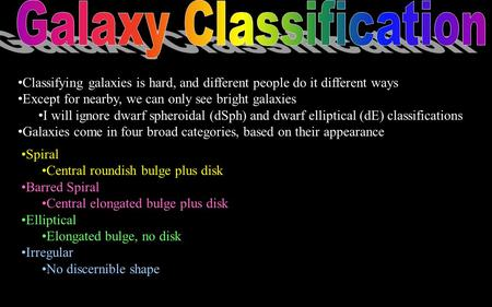 Galaxy Classification
