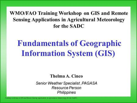 an overview of gis or geographic information systems