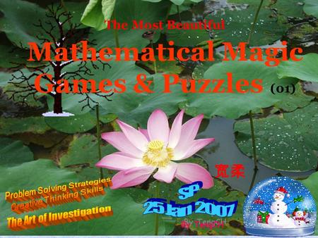 The Most Beautiful Mathematical Magic Games & Puzzles (01)