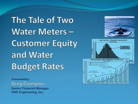 Discussion Topics Overview of Water Rates in California Legal Framework of Water Rates Water Consumption Patterns Empirical Data – City of Fresno The.