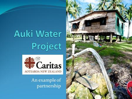 An example of partnership. The Diocese of Auki is on the island of Malaita in the Solomon Islands.