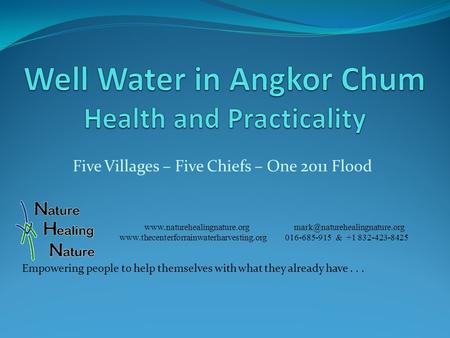 Five Villages – Five Chiefs – One 2011 Flood   016-685-915.