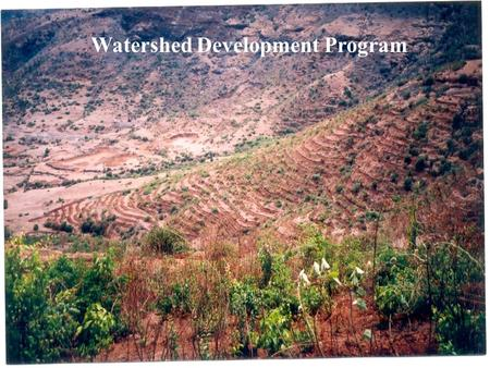 1 Watershed Development Program. 2 1 Watershed Management with CCT technology & plantation 2 Training for use of CCT Technology 3 Water Literacy 4 Demonstrate.