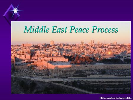 Middle East Peace Process Click anywhere to change slide.