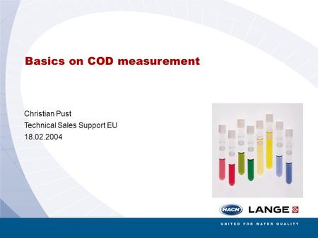 Basics on COD measurement