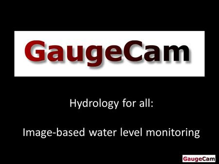 Hydrology for all: Image-based water level monitoring.